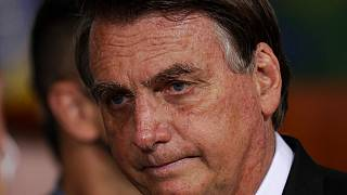 Brazil's President Jair Bolsonaro attends a ceremony to launch the new registration system for Professional Fishermen and Fishing Network, at the Planalto presidential palace.