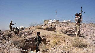 القوات الأمنية الأفغانية تشارك في عملية مستمرة ضد مسلحي طالبان في منطقة سركاري باغ بمنطقة بمحافظة قندهار، 2 نوفمبر 2020