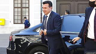 Ο πρωθυπουργός της Βόρειας Μακεδονίας Ζόραν Ζάεφ κατά την επίσκεψή του στην Αυστρία