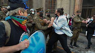 مظاهرات في سانتياغو