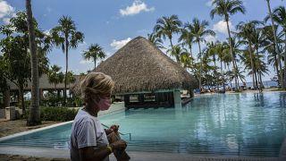 Туристка в одном из отелей Гаваны