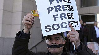 Türkiye'de bir basın özgürlüğü protestosu