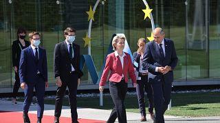 Ursula von der Leyen and PM Janez Janša met in Ljubljana to kick off the EU Council presidency.