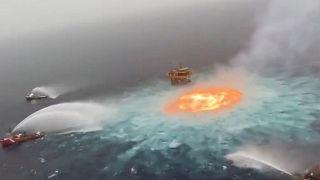 انفجار گاز در خلیج مکزیک