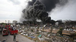 تسبب انفجار المنشأة بأضرار مادية كبيرة
