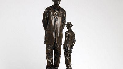 Une sculpture représentant John Chilembwe sur Trafalgar Square en 2022