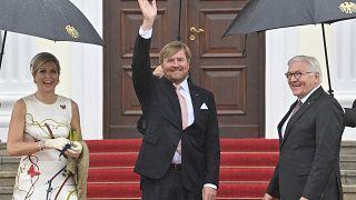 Das niederländische Königspaar Willem-Alexander und Máxima zusammen mit Bundespräsident Frank-Walter Steinmeier