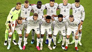 Die DFB-Elf vor ihrem ersten EM-Spiel gegen Frankreich in München, 15.06.2021