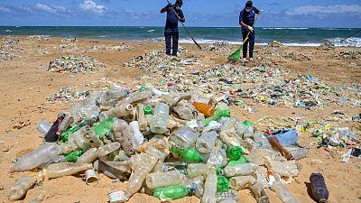 Single-use plastic found on European beaches