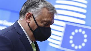 Hungarian Prime Minister Viktor Orban arrives for an EU acme  successful  Brussels past  month.