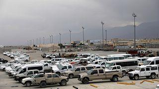 قاعدة باغرام العسكرية في إقليم باروان شمال كابول في أفغانستان بعد مغادرة الجيش الأمريكي.