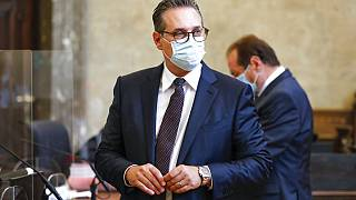 Бывший вице-канцлер Австрии Хайнц-Кристиан Штрахе в Венском окружном суде