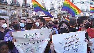 احتجاجات في إسبانيا عقب جريمة قتل رجل مثلي بطريقة شنيعة