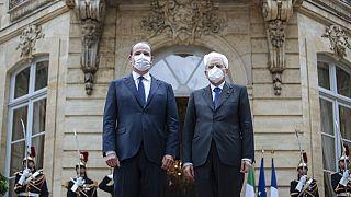 Jean Castex e Sergio Mattarella a Matignon, Parigi