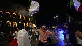 Eines der größten Public Viewings fand in Rom statt