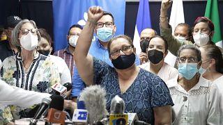 Lesbia Alfaro, madre del estudiante detenido Lesther Alemán, llamó a seguir la lucha contra Ortega.