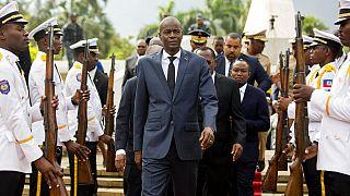 Le président Jovenel Moïse lors d'une cérémonie, en 2018