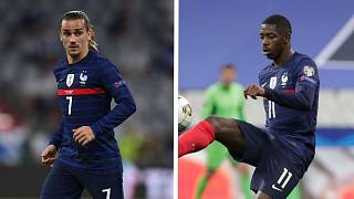 Antoine Griezmann (L) and Ousmane Dembele have both apologised for the video.
