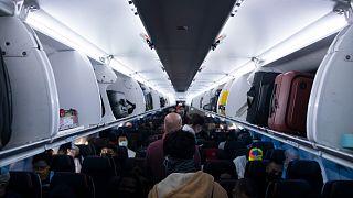 رحلة تابعة لشركة الخطوط الجوية الأمريكية في مطار فينكس سكاي هاربر الدولي في فينيكس.