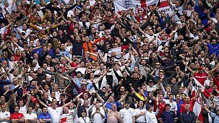Aficionados en un partido de la Eurocopa