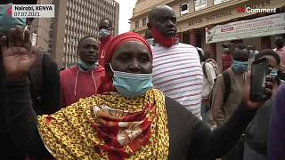 مظاهرات في كينيا بسبب الإغلاق