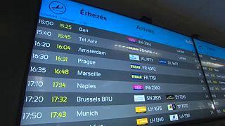 Kijelző a Liszt Ferenc Nemzetközi Repülőtéren
