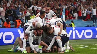 Οι Άγγλοι διεθνείς πανηγυρίζουν