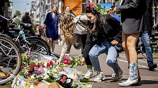 Am Ort des Anschlags gegen Kriminalreporter Peter de Vries in Amsterdam
