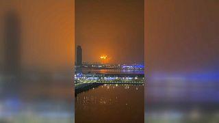 Dubai'de bir gemide patlama meydana geldi