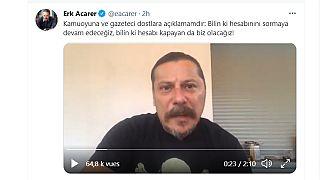 BirGün gazetesi yazarı Erk Acarer, kendisine saldırıyla ilgili açıklama yaptı