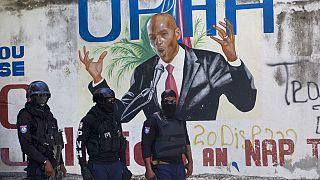 Il presidente assassinato Jovenel Moïse in un murales ad Haiti