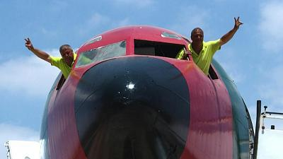 Twin brothers Ata and Khamis first bought their engineless aeroplane in 1999