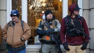 ARCHÍV: a fegyvertartást támogatók tüntetése a Virginia állambeli Richmondban 2020. 01. 20.