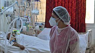 In einem Krankenhaus in Kairouan in Tunesien auf der Covid19-Station