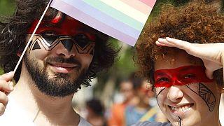 Gay Pride, Budapest, Hungary, July 5, 2014. (illusztráció)