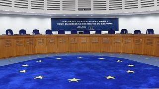 قاعة جلسات بالمحكمة الأوروبية لحقوق الإنسان (ECHR) في ستراسبورغ ، شرق فرنسا ، في 22 نوفمبر2017.