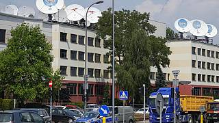 The Warsaw offices of Poland's broadcaster TVN, which is American-owned and could be affected by the proposed law change