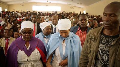 Church congregation in Harare, Zimbabwe
