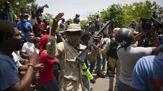 Protestas por el asesinato del presidente haitiano Jovenel Moise en Puerto Príncipe, Haití, el  8 de julio de 2021.