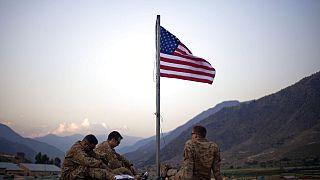 Photo d'archive   Des soldats américains commémorent le 11/09 dans la base de Bostick dans la province de Kunar en Afghanistan, le 11 septembre 2011