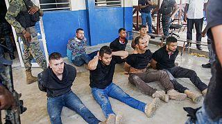 Des suspects exhibés à la presse au commissariat central de Port-au-Prince