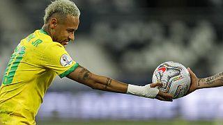 Neymar pendant la demi-finale contre le Chili
