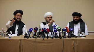 نشست خبری نمایندگان طالبان در مسکو