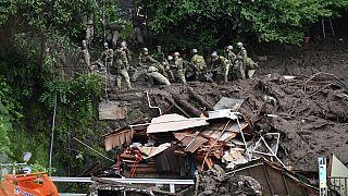 Оползень в Атами (Япония).