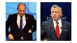 شاه اردن و نخست وزیر اسرائیل