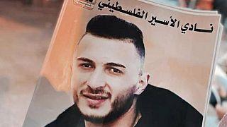 ملصق لنادي الأسير الفلسطيني للأسير الغضنفر أبو عطوان