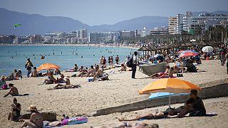 Am Strand auf Mallorca in Spanien