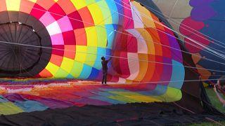 Festival de montgolfières en Catalogne
