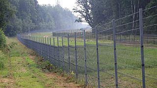 Litvanya'yı Belarus'tan ayıran tel duvar