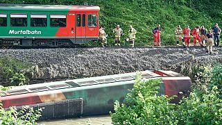 Железнодорожная катастрофа в Австрии